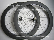 carbon wheels 60mm tubular carbon bicycle parts 700C road wheelset 20.5mm width