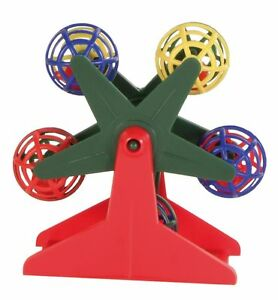 TRIXIE Budgie Toy - Ferris Wheel with Little Rattling Balls FREE P&P