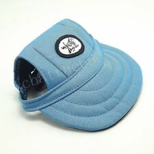 Blue Canvas Cap Dog Baseball Hat Summer Only For Small Dogs Red & Blue Color
