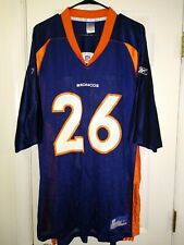 Sz XL REEBOK Clinton Portis Denver Broncos NFL Jersey ON FIELD vintage