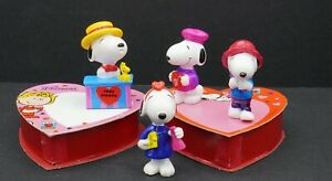 Lot of 4 Snoopy PVC figures from Whitman's Chocolates