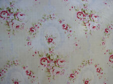Yuwa haben wir französischen Kränze Pink Himbeere Rosen blau Schleifen Dobby Baumwollmaterial