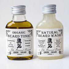 100ml Organic Beard Oil + 100ml Natural, Mild Beard Shampoo by Revered Beard