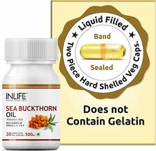 Inlife Sea Buckthorn Seed Oil Supplement 500mg 30 Vegetarian Capsules