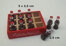 boissons miniature dans caisse en bois,maison de poupée, vitrine  CL9
