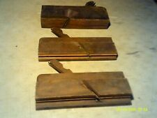 3 Antique wood moulding trim wood working planes complete with blades