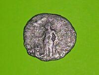 Elagabalus 218 AD silver denarius coin sacrifice altar ancient ROMAN COIN G old