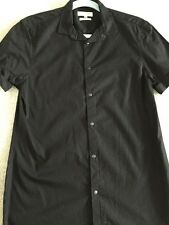 River Island Mens Short Sleeve Black Shirt. Slim Fit. Size Small