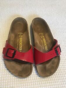 Ladies Red Birkenstock Size UK 3.5. EU 36