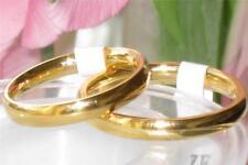 Gold ring ring band 18kt steel no tarnish 3mm or 5mm ladies mens unisex bridal
