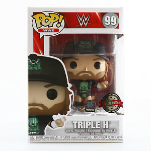 IN HAND! Funko POP! WWE Wrestling - Triple H (With Pin) Exclusive With Protector
