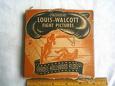 Vintage 8mm Film on 5 inch reel ~ Louis Walcott Fight Pictures w/ Box COMPLETE!
