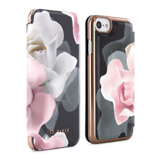 OFFICIAL TED BAKER Womens Floral Folio Case Cover for iPhone 7/6S KNOWANE Black
