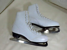 Ladies Sz 9 White Insulated Ice Figure Skates w/ Canadian Slm blades