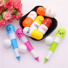 6Pcs Cute Novelty Creative Lovely Pill Shape Pen Office School Supply Stationery
