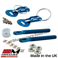 Motamec Bonnet Pins Competition Alloy with Retained Slider Lynch Pin Blue Race R
