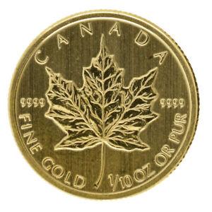 Canada - Gold 5 Dollars Coin - 1/10 Oz. - 'Canadian Maple Leaf' - 2010 - UNC
