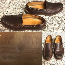 "SPERRY Gold Cup ""Authentic Original"" Boat Shoe 10 M Brown Leather"