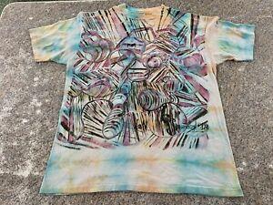vintage hanes beefy t tie dye psychedelic 1990's
