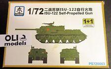 1/72 Soviet ISU-122 Self-Propelled Gun - 2 KITS IN BOX SET - S-Model 720063
