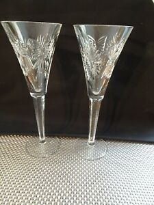 Pair of Waterford Champagne Toasting Flutes