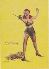 "Elvgren "" foil proof "" - 1940s art illust Pin-Up/Cheesecake litho"