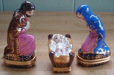 Peint Main Nativity Holy Family Trinket Boxes - Joseph, Mary & Jesus