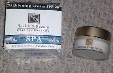 Lightening Active Facial Face Cream Spf-20 H&B Dead Sea Minerals 50ml/1.76 fl.oz