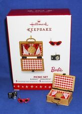Hallmark Limited Miniature Barbie Ornament Picnic Set 2016 Basket Camera Glasses