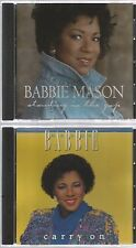 BABBIE MASON very rare CARRY ON 1988 + standing in the gap 2 CD's 1993