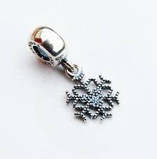 "Genuine Pandora Disney Charm ""Mickey Sparkling Snowflake"" - 791467CFL - retired"