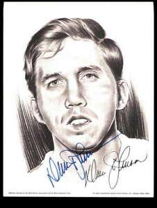 Davey Johnson Signed 8.5x11 Linnett 1974 Litho Photo Autograph Atlanta Braves