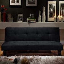Divano letto moderno 164x95 nero microfibra soggiorno sofa arredi interni |s2