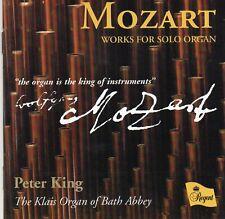 Mozart - Works For Solo Organ CD - Peter King (Regent, 2006)