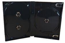 5 DVD Hüllen Scanavo 3fach schwarz Cases Leer-Hülle für 3 Disk 190x135x22 mm