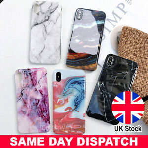 Case For iPhone XR XS MAX 8 7 6 Plus Marble Shockproof Silicone Soft Phone Cover