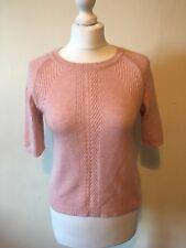 Topshop Pale Pink Blush Short Sleeved Jumper Size 8
