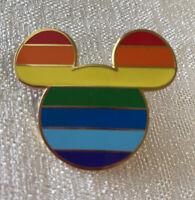 Mickey Mouse - Rainbow Pride Mickey Head Icon - Disney Pin
