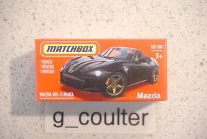 MATCHBOX MAZDA MX-5 MIATA HERITAGE BOX POWER GRAB 58/100 3+ BLACK