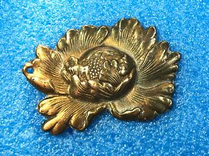 Edo period 18th-19th century Japan one Peony flower gold? plated Menuki