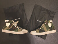 SAINT LAURENT Khaki Camouflage Print Bedford Sneaker 12/45 Mens Pre Owned