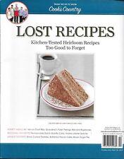 Cook's Country magazine Lost Recipes Ribs Cake Lobster quiche Tiramisu Sugar pie