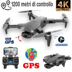 DRONE PROFESSIONALE QUADRICOTTERO DUE TELECAMERE 4K GPS DISTANZA 1.2 KILOMETRI