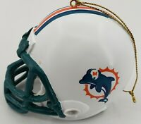 Miami Dolphins Football Helmet Christmas Ornament 2.5""