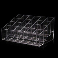 EG_ Clear 24 Lipstick Holder Display Stand Cosmetic Organizer Makeup Case Solid