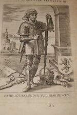 GRAVURE BELGIQUE OTHO LOTHARIN DUX  BRABANT VEEN COLLAERT 1623 OLD PRINT R983