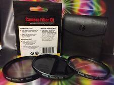 BOWER FILTER KIT 72mm PL UV ND TO CAMERA CAMCORDER PANASONIC NIKON CANON ND4
