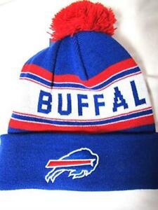 Buffalo Bills Youth OSFA Buffalo Bills Cuffed Beanie with Red Pom E1 1153