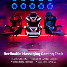 Ergonomic Computer Game Gaming Chair w Massage Gaming Desk