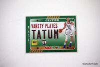 2020-21 NBA HOOPS JAYSON TATUM VANITY PLATES CARD INSERT CELTICS